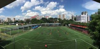 Día del juego en el campo de fútbol Singapur de Futsal fotografía de archivo libre de regalías