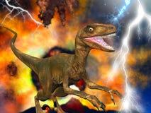 Día del juicio final del dinosaurio Foto de archivo libre de regalías