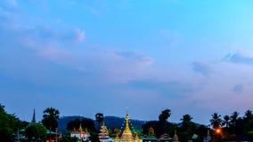 Día del lapso de tiempo a la noche del templo Chong Klang metrajes