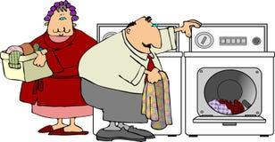 Día del lavadero stock de ilustración