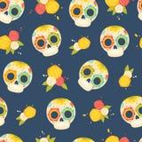 Día del modelo colorido muerto del vector libre illustration
