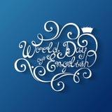 Día del mundo de inscripción inglesa Imagen de archivo