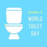 Día del mundo de la taza del inodoro Foto de archivo