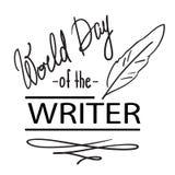 Día del mundo del escritor ilustración del vector