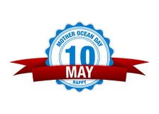 Día del océano de la madre 10 de mayo calendario de la cinta Rojo del vector libre illustration