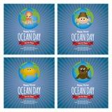 Día del océano del mundo Imagen de archivo libre de regalías