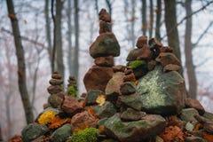 Día del otoño en el bosque encantado Foto de archivo libre de regalías
