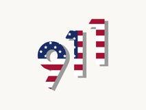 9/11 día del patriota, el 11 de septiembre de 2001 Vector Foto de archivo