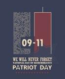 9/11 día del patriota, nunca olvida libre illustration