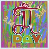 Día del pi Imagenes de archivo