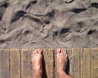 Día del puño en la playa fotos de archivo libres de regalías