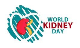 Día del riñón del mundo libre illustration