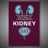 Día del riñón del mundo ilustración del vector