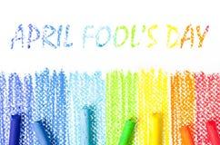 Día del ` s de April Fool Imagen de archivo libre de regalías