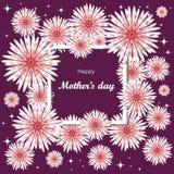 Día del `s de la madre Tarjeta de felicitaciones del día de las mujeres ilustración del vector