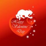 Día del `s de la tarjeta del día de San Valentín Fotografía de archivo libre de regalías
