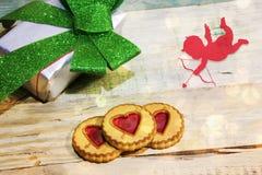 Día del `s de la tarjeta del día de San Valentín Foto de archivo