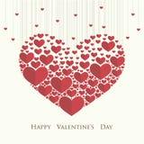 Día del `s de la tarjeta del día de San Valentín stock de ilustración
