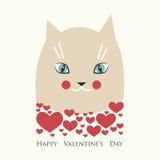 Día del `s de la tarjeta del día de San Valentín ilustración del vector