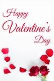 Día del `s de la tarjeta del día de San Valentín Fotos de archivo