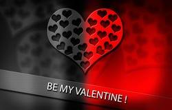 Día del ` s de la tarjeta del día de San Valentín, corazón Imagen de archivo libre de regalías