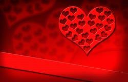 Día del ` s de la tarjeta del día de San Valentín, corazón Fotografía de archivo libre de regalías