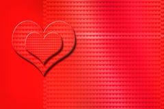 Día del ` s de la tarjeta del día de San Valentín, corazón Foto de archivo libre de regalías