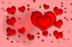 Día del ` s de la tarjeta del día de San Valentín, corazón Fotos de archivo