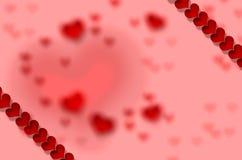 Día del ` s de la tarjeta del día de San Valentín, corazón Imagen de archivo