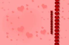 Día del ` s de la tarjeta del día de San Valentín, corazón Imágenes de archivo libres de regalías