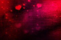 Día del ` s de la tarjeta del día de San Valentín, corazón Fotografía de archivo