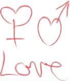 Día del `s de la tarjeta del día de San Valentín Corazón Foto de archivo