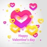 Día del `s de la tarjeta del día de San Valentín 14 de febrero libre illustration