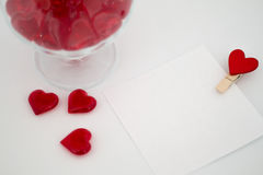 Día del ` s de la tarjeta del día de San Valentín de la nota del amor Fotografía de archivo libre de regalías