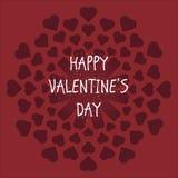 Día del ` s de la tarjeta del día de San Valentín de la tarjeta Fotos de archivo libres de regalías