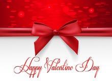 Día del ` s de la tarjeta del día de San Valentín de la tarjeta de felicitación Fotografía de archivo
