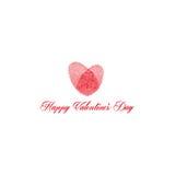Día del ` s de la tarjeta del día de San Valentín del diseño del vector imagen de archivo libre de regalías
