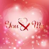 Día del ` s de la tarjeta del día de San Valentín del diseño del vector foto de archivo