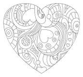 Día del ` s de la tarjeta del día de San Valentín del St - símbolo del corazón Fotografía de archivo