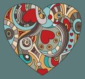 Día del ` s de la tarjeta del día de San Valentín del St - símbolo del corazón Foto de archivo libre de regalías