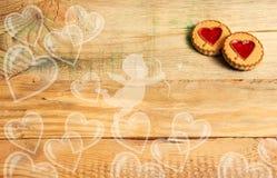 Día del `s de la tarjeta del día de San Valentín Fondo Fotografía de archivo