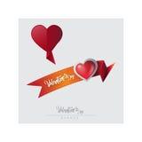 Día del ` s de la tarjeta del día de San Valentín, illustrationbanner del vector Fotos de archivo