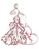 Día del ` s de la tarjeta del día de San Valentín del bosquejo de la moda Fotos de archivo