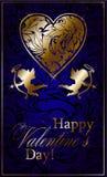 Día del ` s de la tarjeta del día de San Valentín con amoríos, flechas de amor y nubes Imagen de archivo libre de regalías