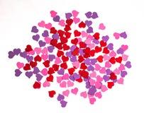 Día del ` s de la tarjeta del día de San Valentín, el 14 de febrero Inscripciones sobre amor Foto de archivo libre de regalías