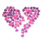 Día del ` s de la tarjeta del día de San Valentín, el 14 de febrero Inscripciones sobre amor Fotografía de archivo libre de regalías