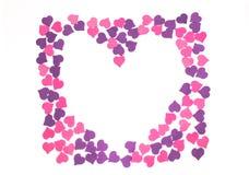 Día del ` s de la tarjeta del día de San Valentín, el 14 de febrero Inscripciones sobre amor Fotografía de archivo