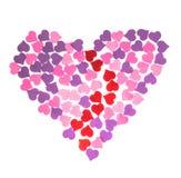 Día del ` s de la tarjeta del día de San Valentín, el 14 de febrero Inscripciones sobre amor Imagen de archivo libre de regalías