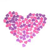 Día del ` s de la tarjeta del día de San Valentín, el 14 de febrero Inscripciones sobre amor Imágenes de archivo libres de regalías