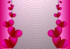 Día del ` s de la tarjeta del día de San Valentín de la tarjeta de la invitación del amor Diseño de la tarjeta de felicitación de ilustración del vector